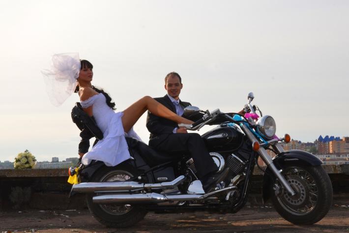 Открытки на байкерскую свадьбу